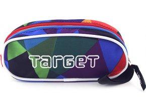 Školní penál Target | Sytě barevné tvary