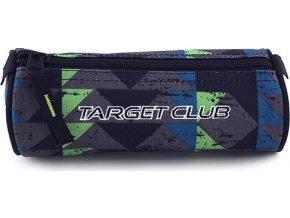 Školní penál Target | Černo-barevné trojúhelníky