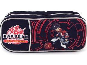 Školní penál Bakugan jednoduchý | černo-červený