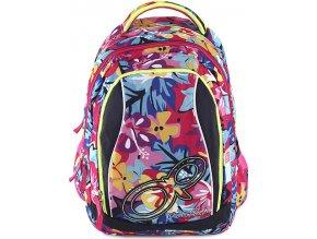 Studentský batoh | 2v1 | barevné květiny