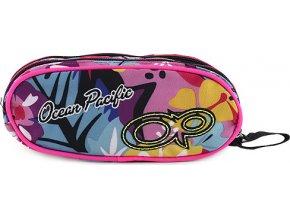 Školní penál | dvoukomorový | barevný potisk | Ocean Pacific