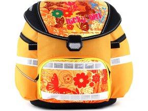 Školní batoh | se svítícím elementem | oranžový