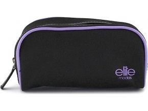 Kosmetická taška Elite Models černo fialová