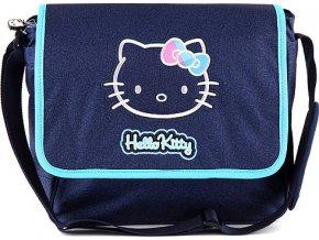 Taška | přes rameno | Hello Kitty | modrá jeans