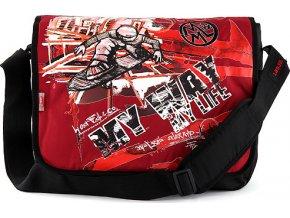 Taška | přes rameno | na notebook | na volný čas | černo-červená