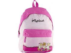 Dětský batoh | Nici | růžový s puntíky | 43x37x16cm