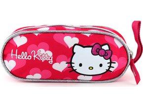 Školní penál | Hello Kitty | elipsovitý | 21x9x4cm