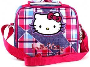 Taška | svačinářka | Hello Kitty | jeans | 22x16x12cm