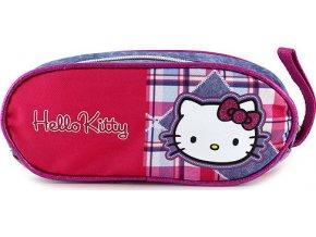 Školní penál | Hello Kitty | jeans | 21x9x4cm