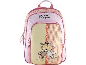 Školní batoh | Nici | žluto-růžová | dvě ovečky | 43x33x16cm