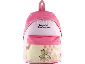 Dětský batoh | Nici | žluto-růžová | dvě ovečky | 30x29x9cm