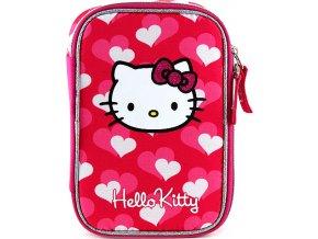 Školní penál | Hello Kitty | srdce | s náplní