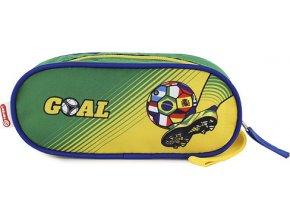 Školní penál | Goal | elipsovitý | zeleno-žlutý
