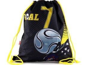 Sportovní vak | Goal | černý se žlutými šňůrkami
