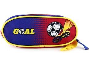 Školní penál | Goal | elipsovitý | modro-červený