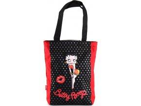 Nákupní taška | Betty Boop | červeno-černá