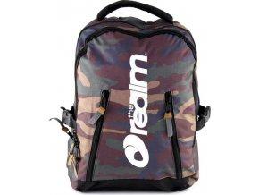 Studentský batoh The Realm vojenský motiv tmavý