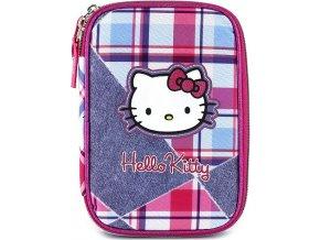 Školní penál | s náplní | Hello Kitty | jednopatrový | jeans