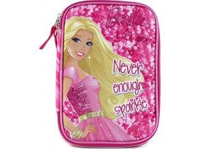 Školní penál s náplní | Barbie | jednopatrový s nápisem