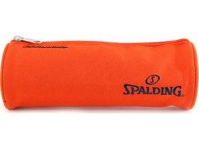 Školní penál Spalding kulatý, oranžový