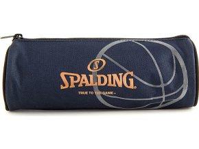 Školní penál Spalding kulatý, tmavě modrý