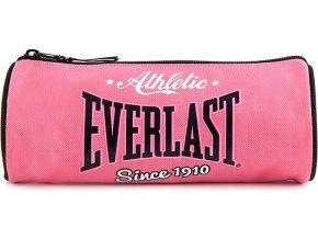 Školní penál | Everlast | kulatý | černo/růžový