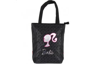 Nákupní taška |  Barbie | černá se stříbrným motivem