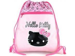 Sportovní vak Hello Kitty růžový s motivem a nápisem Hello Kitty