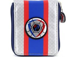 Peněženka Goal | modro/stříbrná s motivem fotbalového míče