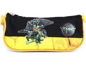 Školní penál TMNT černo/žlutý s motivem želvy Ninja
