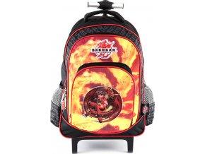 Školní batoh trolley Bakugan oranžovo/černý, s motivem Bakugan