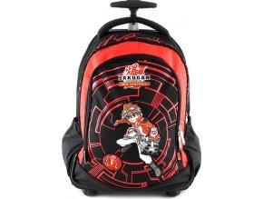 Školní batoh trolley |  Bakugan červeno/černý