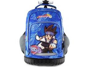Monsuno Školní batoh trolley Beyblade modrý s motivem chlapce Beyblade