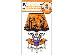 Lampička samolepicí svítící LED netopýr 27cm