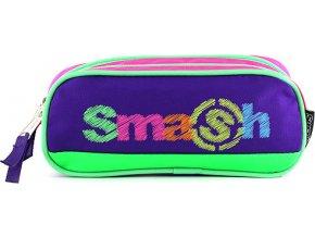 Školní penál | bez náplně | Smash | růžovo/fialový
