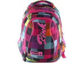 Studentský batoh 2v1 Pink Backpack Pink Rainbow (2 In 1)