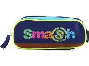 Školní penál | bez náplně | Smash | 2 kapsy | modrý