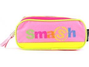 Školní penál | bez náplně | Smash | růžový