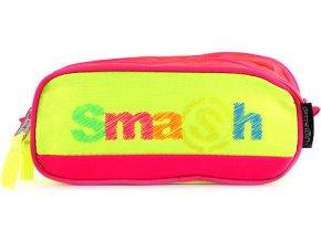 Školní penál | bez náplně | Smash | růžový/neonově žlutý