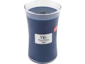 Svíčka | oválná váza | WoodWick | Džínovina | 610g