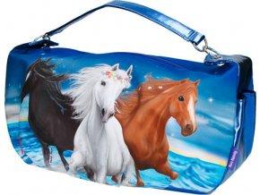 Kabelka přes rameno Miss Melody Modrá, 3 koně