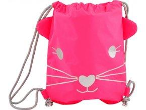 Sportovní vak House of Mouse Myška, neonově růžový