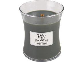 Svíčka | oválná váza | WoodWick | Večer u táboráku | 275g