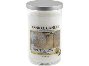 Vonná svíčka ve skleněnném válci   Yankee candle   zářivá zima   340g