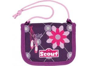 Peněženka s poutkem | Scout | zaoblená | baleríny a květina