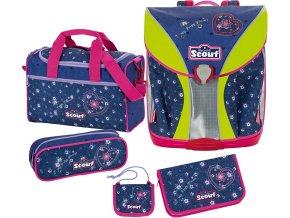 Školní set | Scout | 5dílný | Nano | srdce a květiny