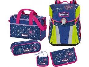 Školní set | Scout | 5dílný | Sunny | srdce a květiny