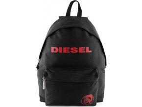 Batoh Diesel černý, s červeným nápisem Diesel