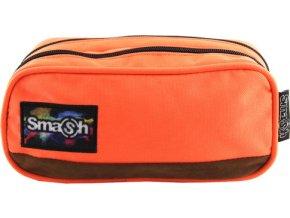 Školní penál | bez náplně |Smash | oranžový | 2 kapsy