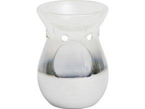 Aromalampa skleněná Yankee Candle Stříbrná, průměr 10 cm